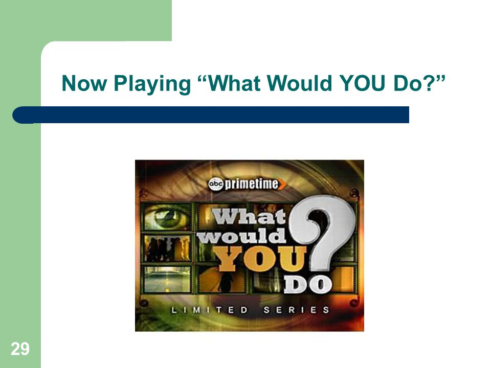 Now Playing What Would YOU Do