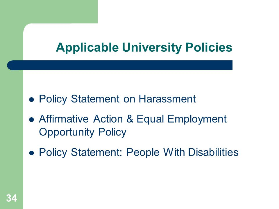 Applicable University Policies