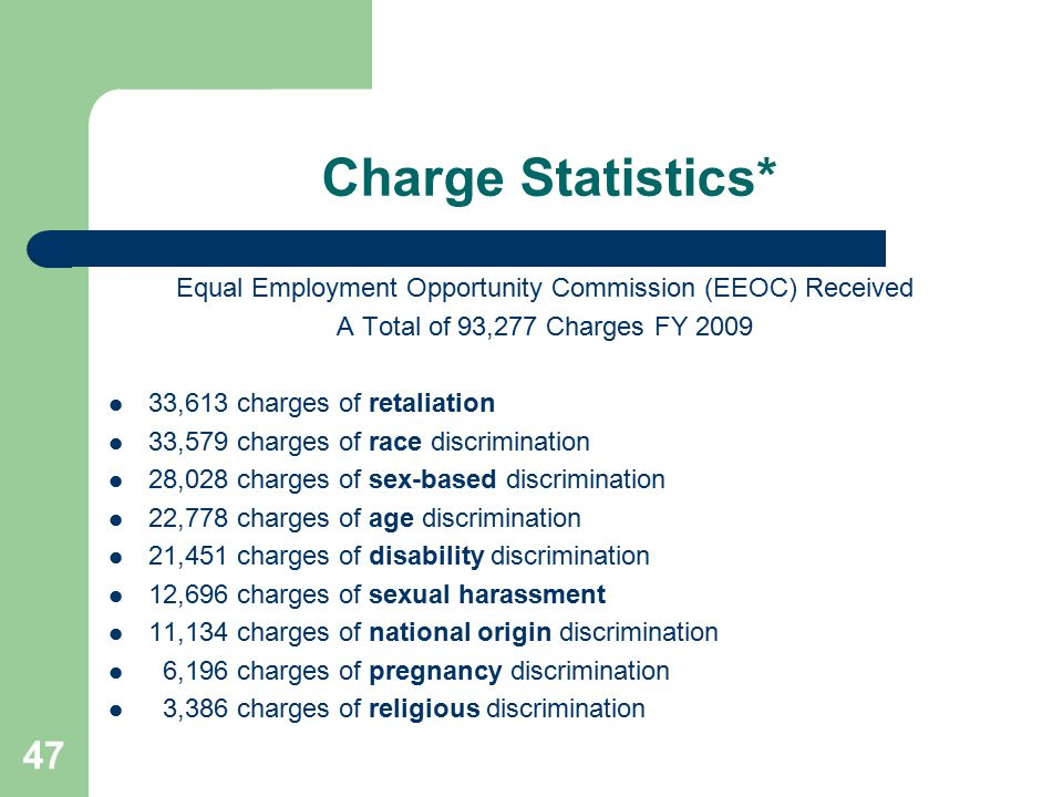 Equal Employment Opportunity Commission (EEOC) Received