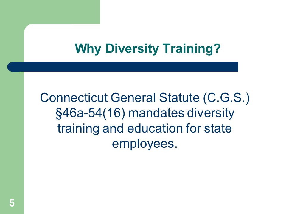 Why Diversity Training