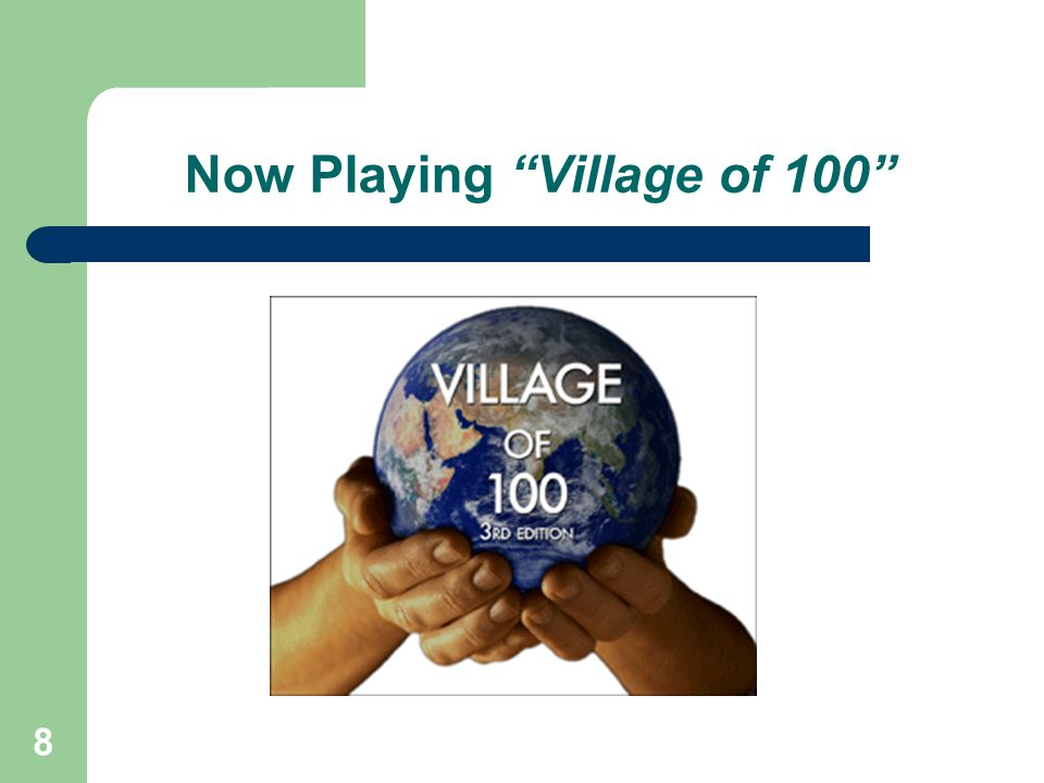 Now Playing Village of 100
