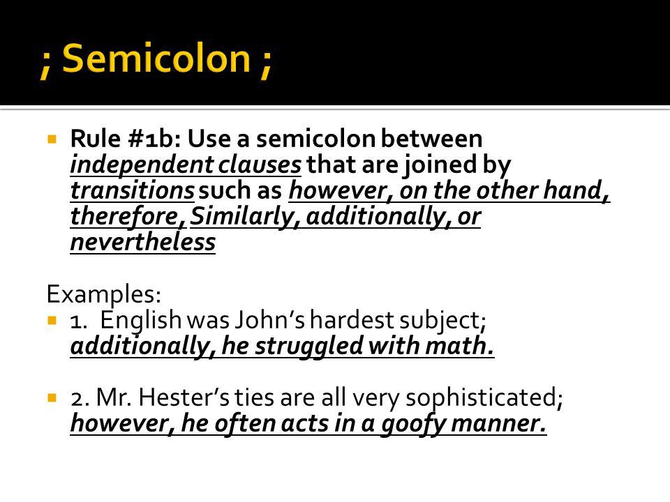Semicolon, colon, Run-on Sentences - ppt download
