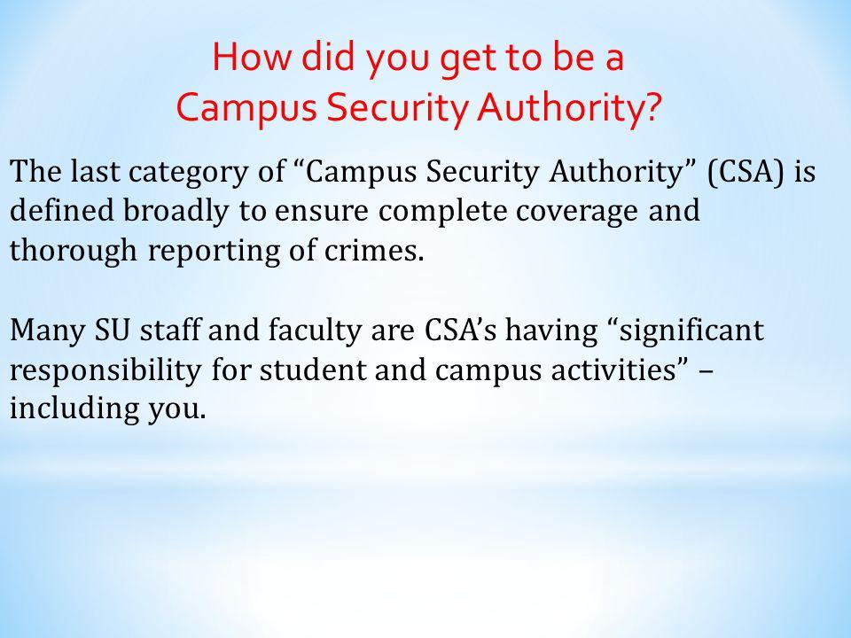 Campus Security Authority