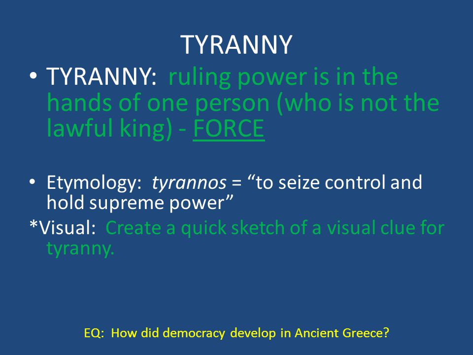 EQ: How did democracy develop in Ancient Greece