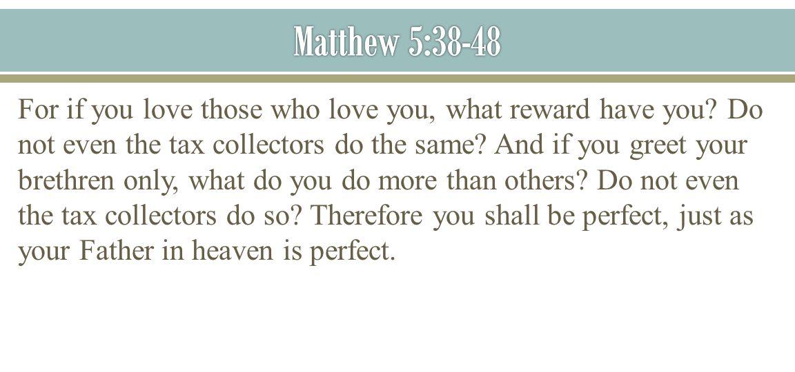 Matthew 5:38-48