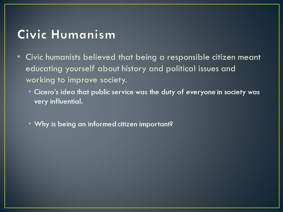Civic Humanism