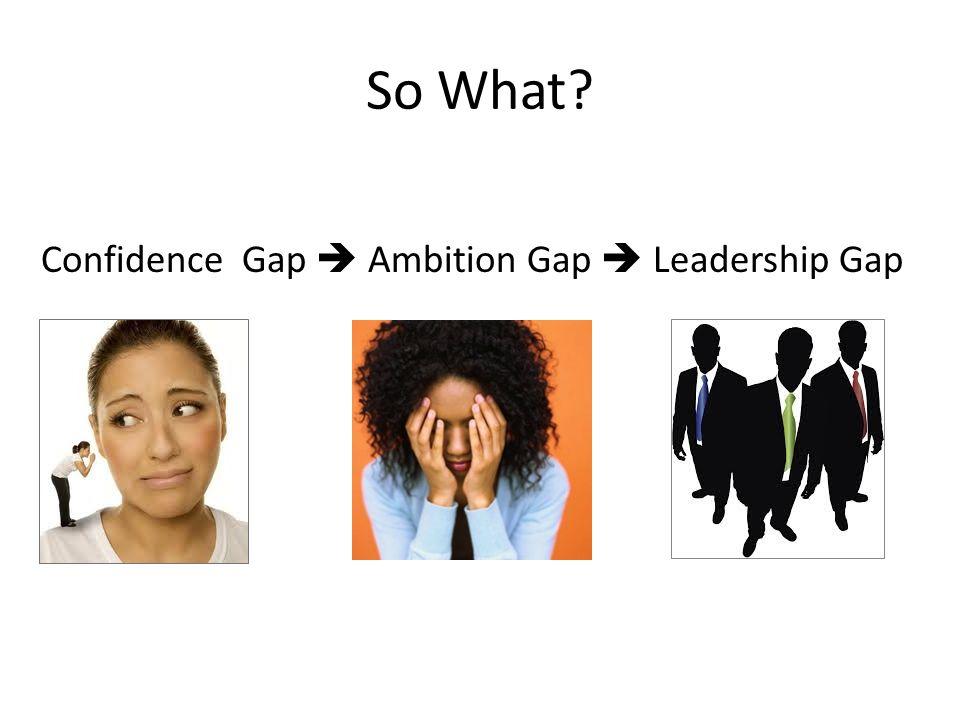 Confidence Gap  Ambition Gap  Leadership Gap
