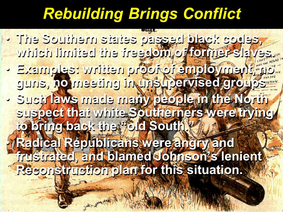 Rebuilding Brings Conflict