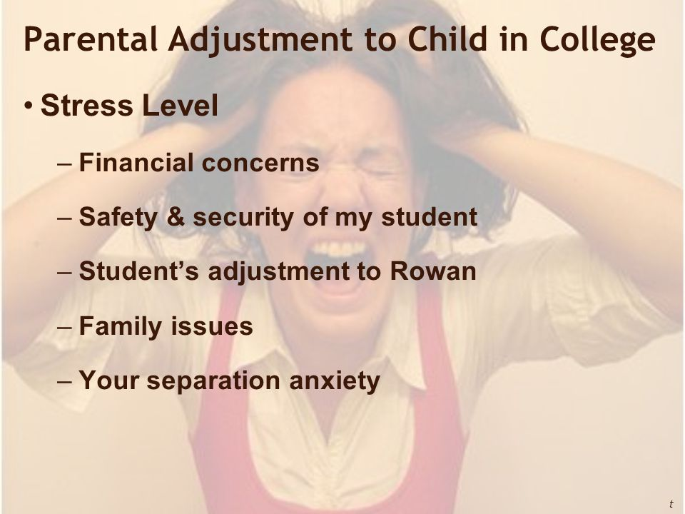 Parental Adjustment to Child in College