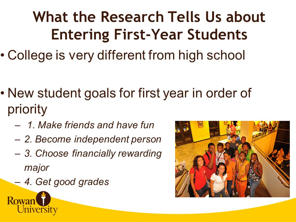 What the Research Tells Us about Entering First-Year Students