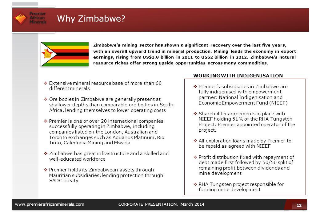 Why Zimbabwe WORKING WITH INDIGENISATION