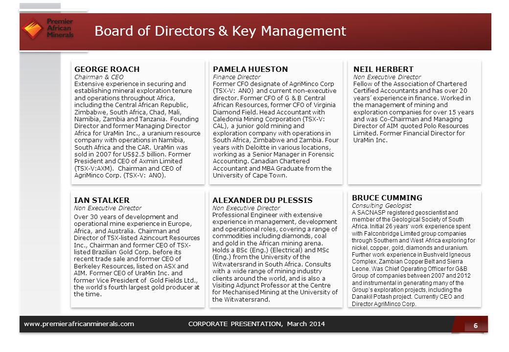 Board of Directors & Key Management