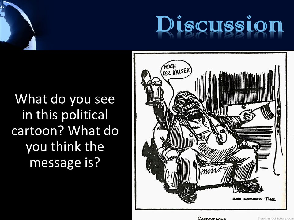Discussion What do you see in this political cartoon What do you think the message is
