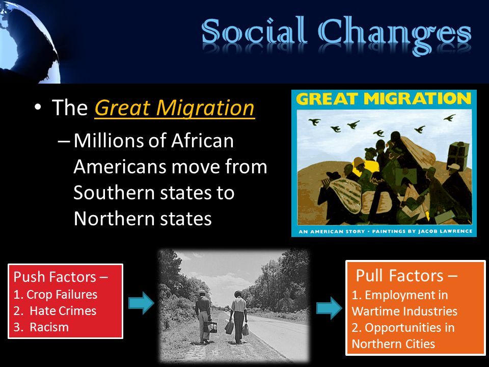 Social Changes The Great Migration