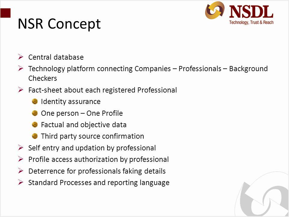 NSR Concept Central database