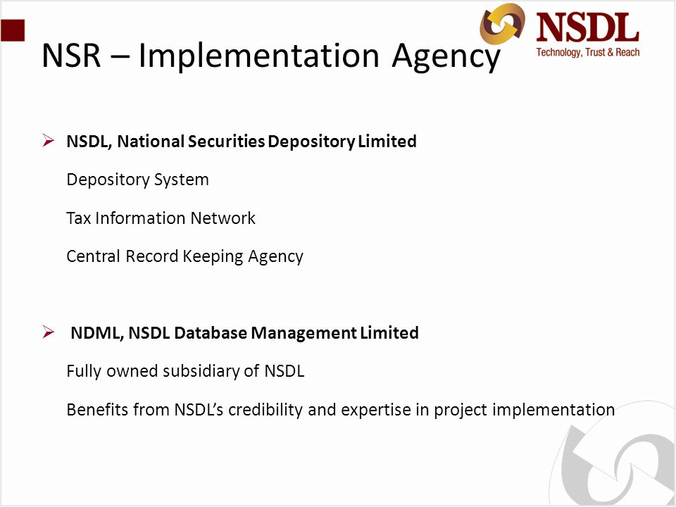 NSR – Implementation Agency