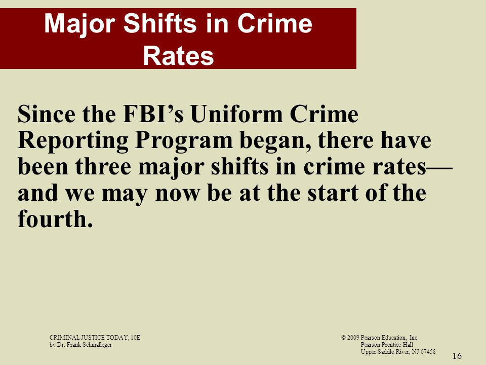 Major Shifts in Crime Rates