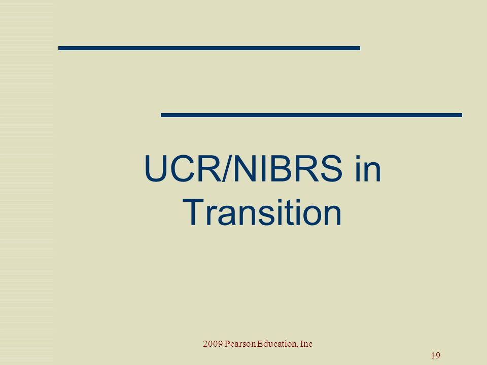 UCR/NIBRS in Transition