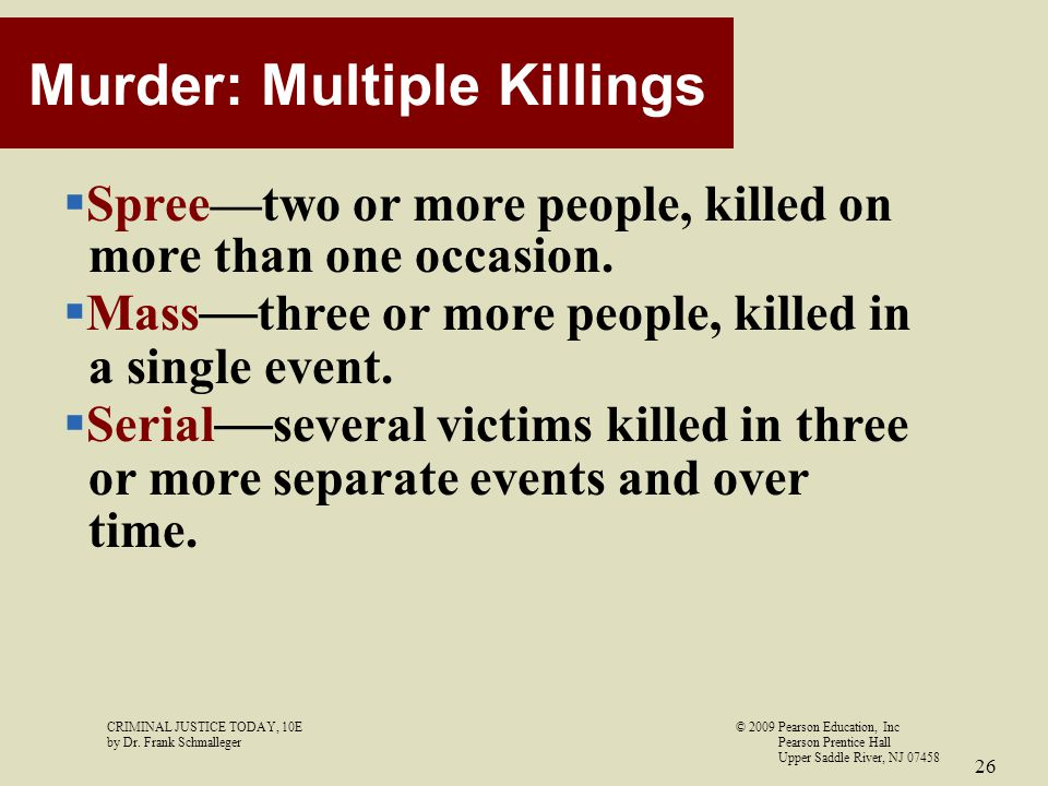 Murder: Multiple Killings