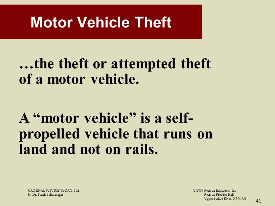 …the theft or attempted theft of a motor vehicle.