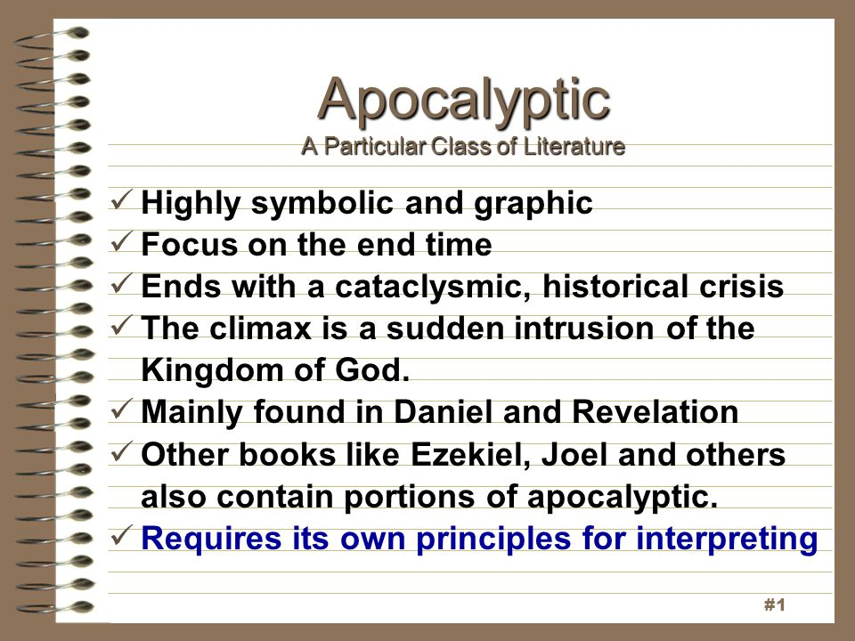 Apocalyptic A Particular Class of Literature