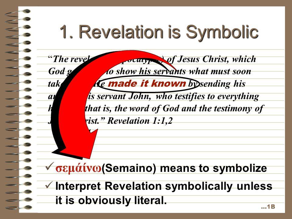 1. Revelation is Symbolic