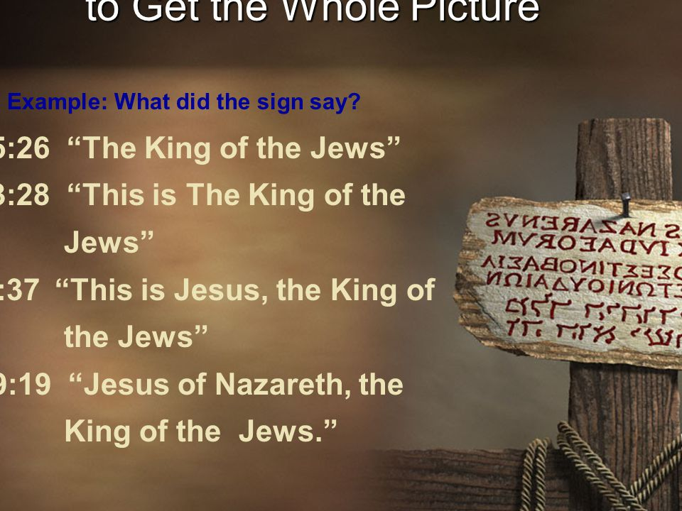 Compare Scripture with Scripture to Get the Whole Picture