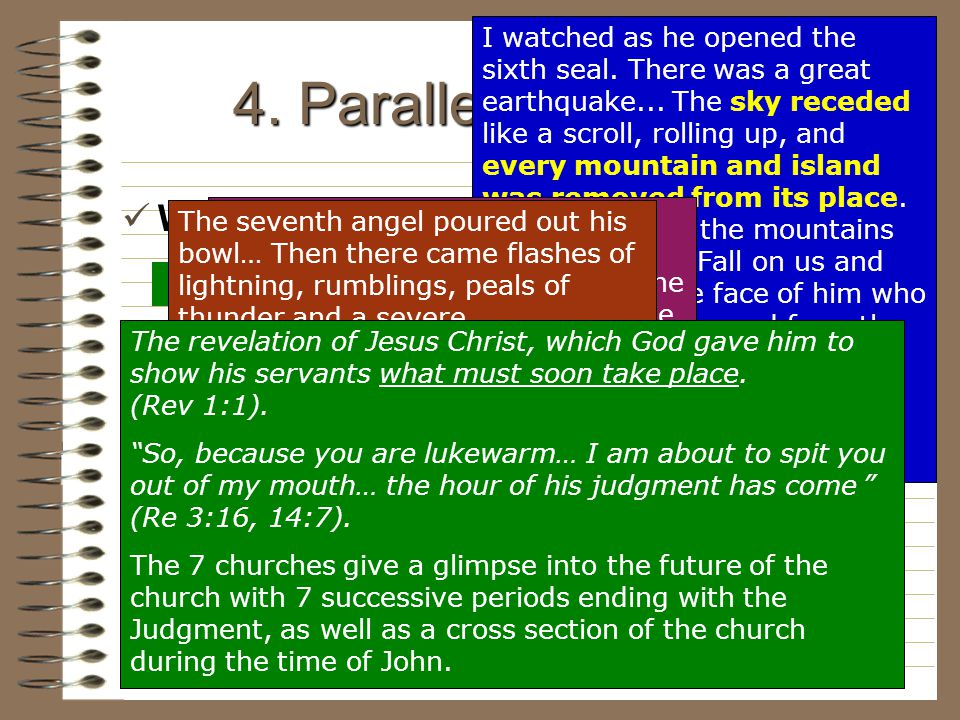 4. Parallel Prophecies Why is parallellism important world ends
