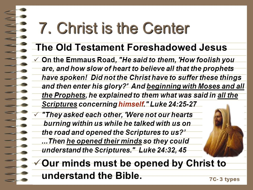 7. Christ is the Center The Old Testament Foreshadowed Jesus