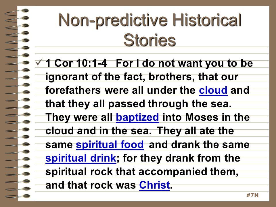 Non-predictive Historical Stories