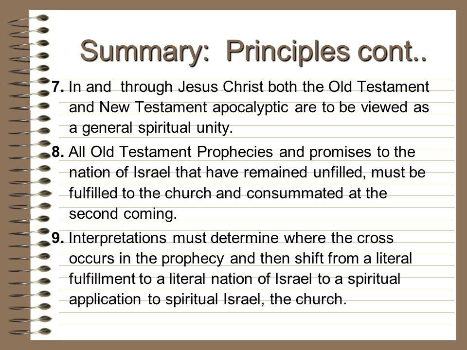 Summary: Principles cont..