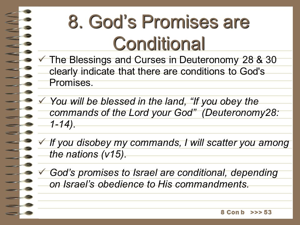 8. God's Promises are Conditional