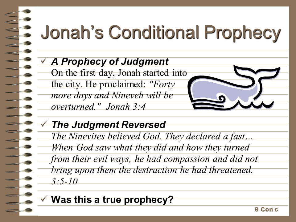 Jonah's Conditional Prophecy