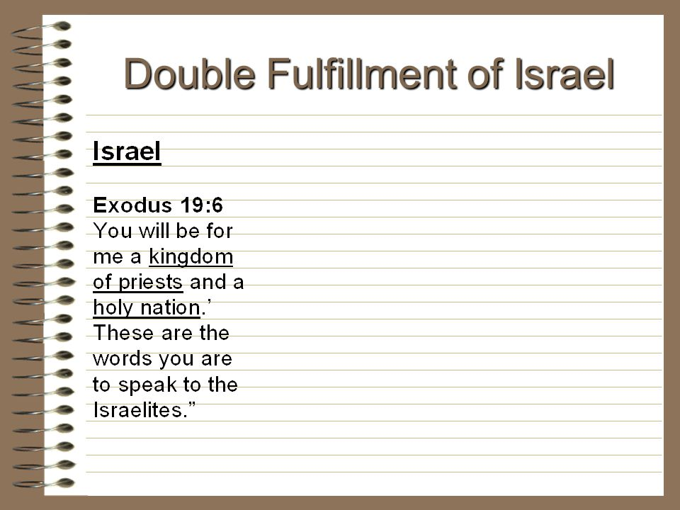 Double Fulfillment of Israel