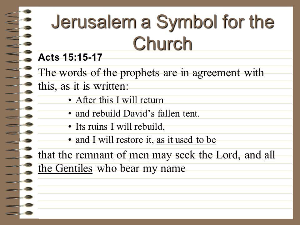 Jerusalem a Symbol for the Church