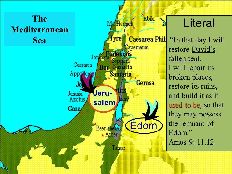 Literal Edom The Mediterranean Sea