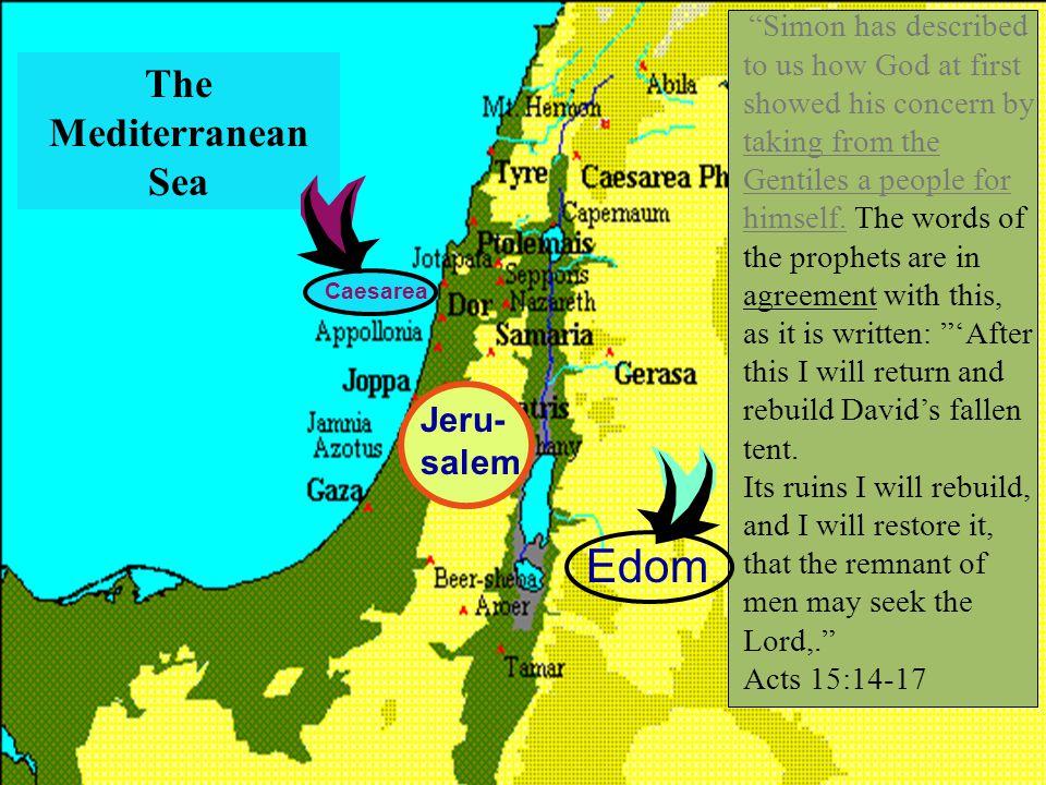 Edom The Mediterranean Sea