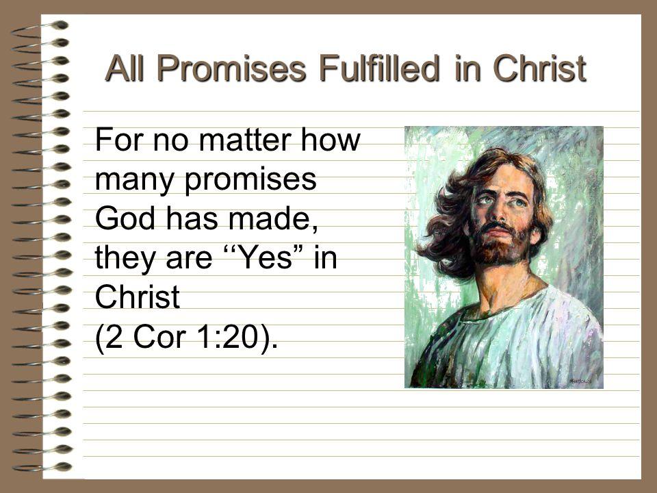 All Promises Fulfilled in Christ
