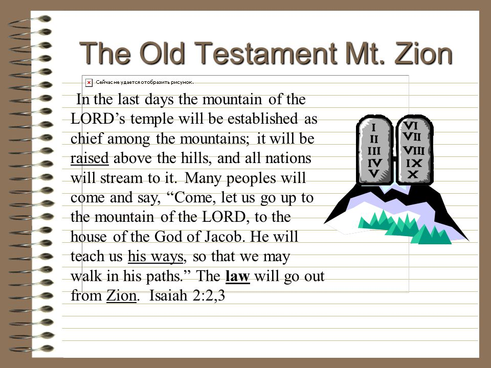 The Old Testament Mt. Zion