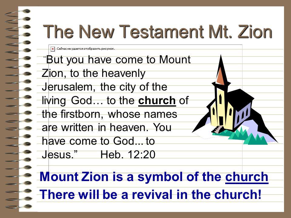 The New Testament Mt. Zion