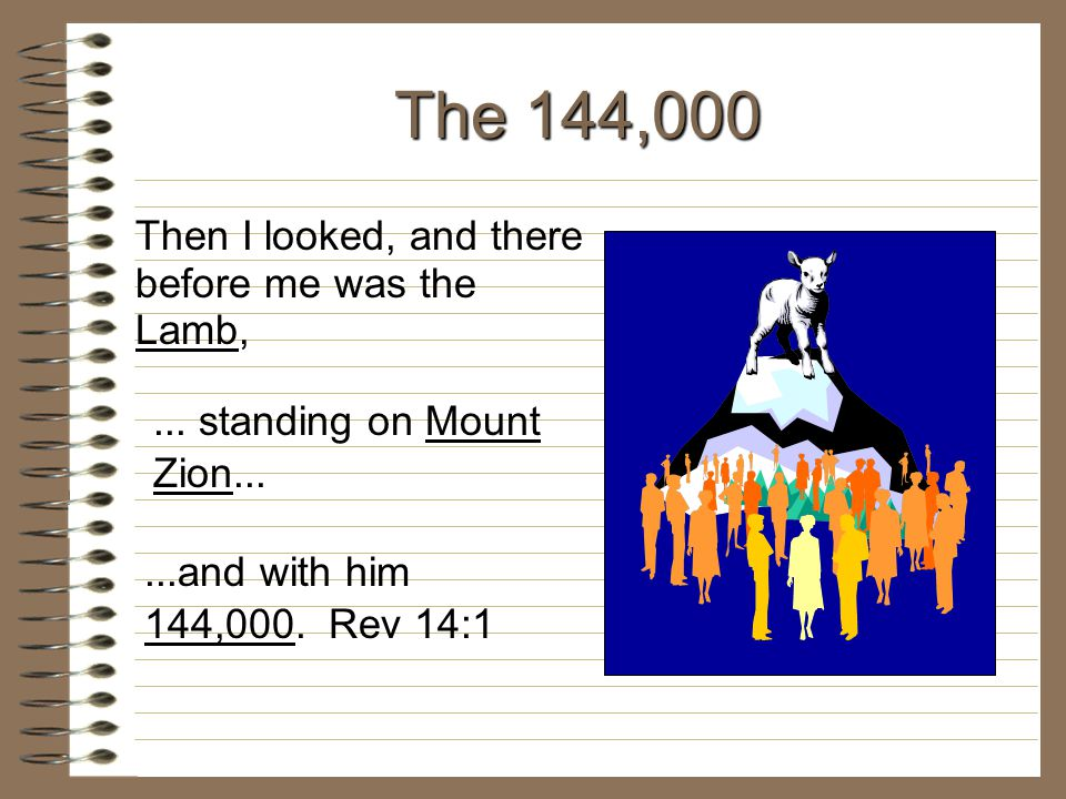 The 144,000 Then I looked, and there before me was the Lamb,