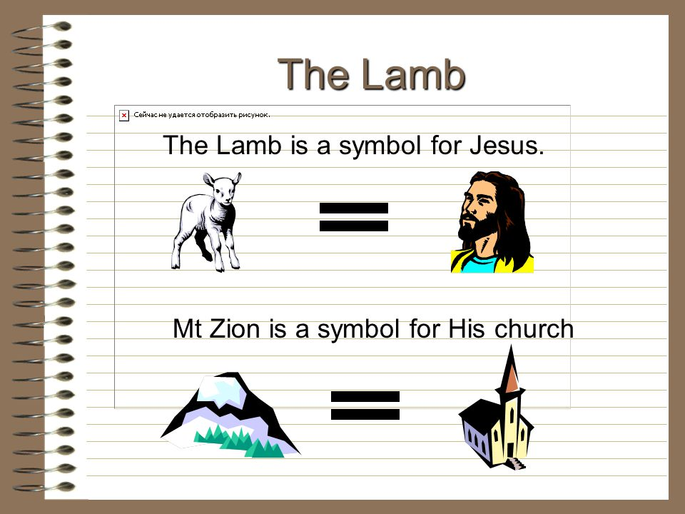 The Lamb is a symbol for Jesus.