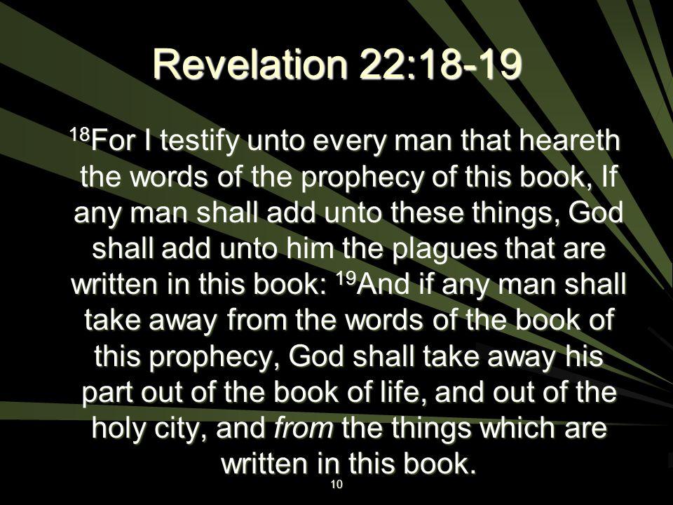 Revelation 22:18-19