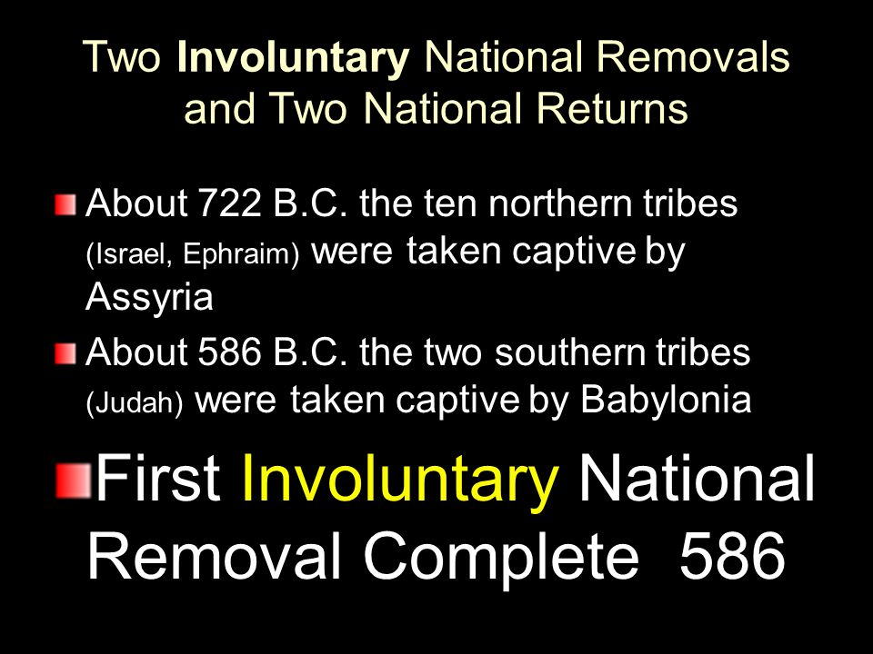 Two Involuntary National Removals and Two National Returns
