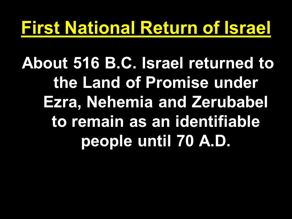 First National Return of Israel