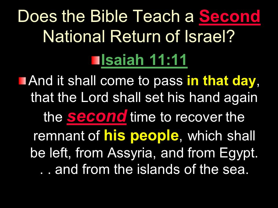 Does the Bible Teach a Second National Return of Israel