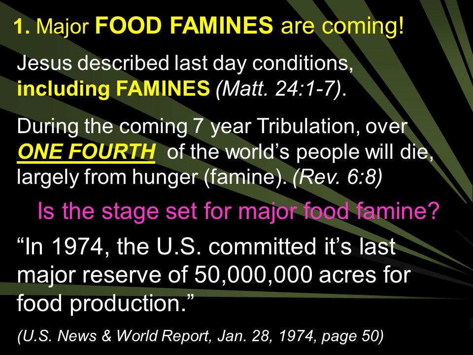 Is the stage set for major food famine