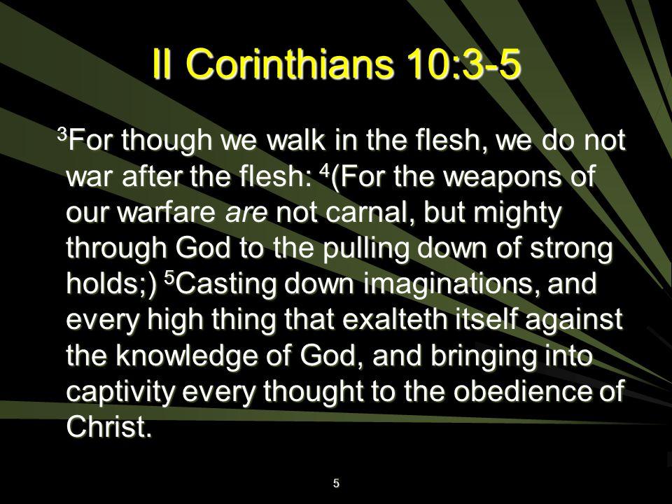 II Corinthians 10:3-5