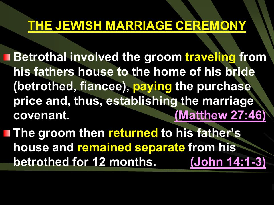 THE JEWISH MARRIAGE CEREMONY