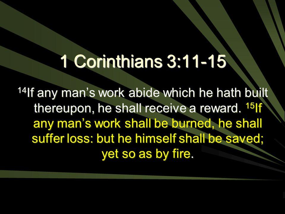 1 Corinthians 3:11-15